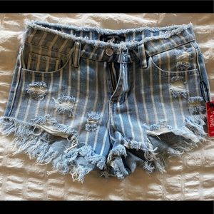 Forever 21 cut off jean shorts.